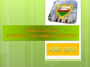 RENDICIÓN DE CUENTAS 2011